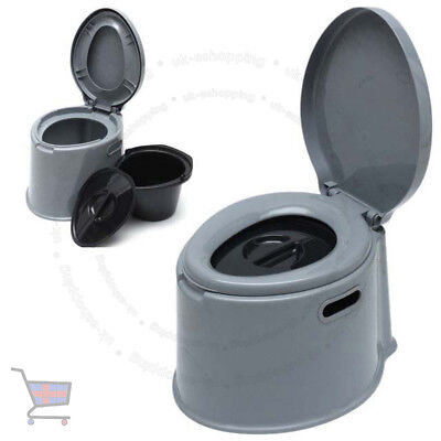 5L Portable Toilet Seat Compact Potty Loo Travel Camping Picnic Festival UKES