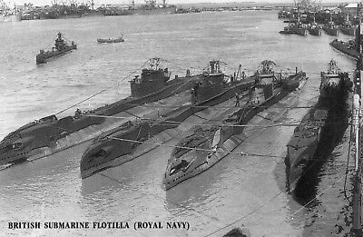 Postcard  :British 'T' Submarines (Thorough & Taciturn)  at Fremantle 1945