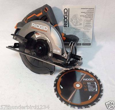 "New Ridgid GEN5X 18 Volt Hyper Lithium 7-1/4"" Circular Saw with Blade # R8652"