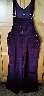 Vintage for Joseph Womens Purple Velveteen Overalls Size M. Cotton. Made in USA.