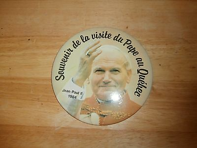 1984 Pope Saint Jean-Paul II Visit to Quebec Canada Large Macaroon