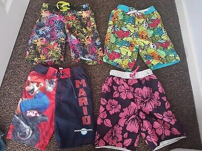 4 Pairs of Boys Swim Shorts Age Approx 4 -5 Years