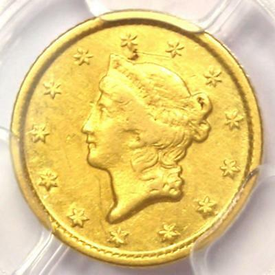 1849-O Liberty Gold Dollar G$1 - PCGS AU Details -  Rare New Orleans Coin!
