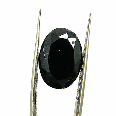 9.90 Ct Natural Black Spinel Loose Gemstone Oval Cut Stone - 15183