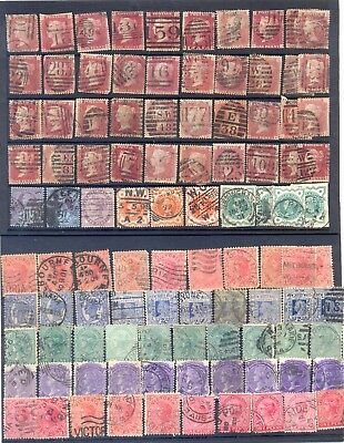 Queen Victoria Stamps.used. X 100