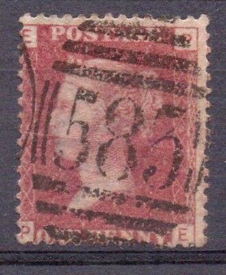 1858-79 F/Used QV SG43 Die 2 PL145 1d Red(Shades) Wmk Large Crown Perf14 Lovely