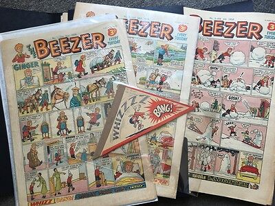 BEEZER COLLECTION 1956 - 1962 incl. FIRST ISSUE with FREE GIFT + BONUS * JOBLOT