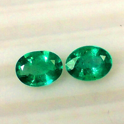 2.72Ct Natural Emerald Oval 8X6 Calibrated ~ Aaa Exclusive Matching Pair Gems