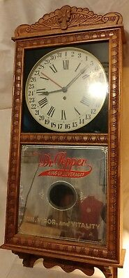 Vintage Dr Pepper limited edition 8 day regulator clock by Saint Charles