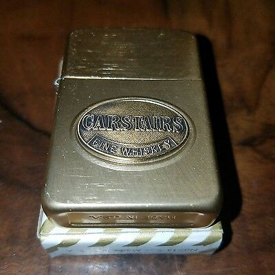 ●Vintage●Carstairs Fine Whiskey●Light Brass Color Lighter●New In Box●Box Of 90●
