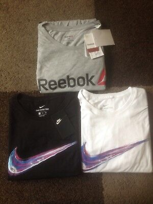 New Men's Bundle Of 3 Tshirts Nike Reebok Size Xxl