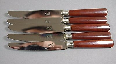 ART DECO Henckels J.A. ZWILLING SET 5 TABLEWARE SOLINGEN KNIVES BAKELITE HANDLES