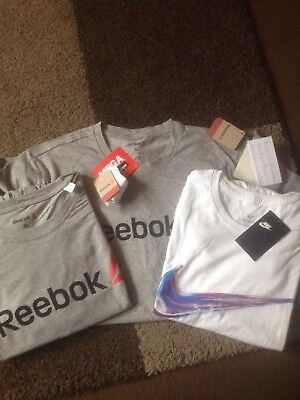 New With Tags Men's Tshirt Bundle Reebok & Nike Xl Extra Large