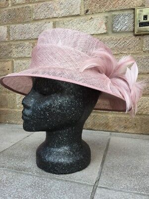 Jacques Vert  Wedding Formal Races Hat Blush Worn Once Pink Champagne