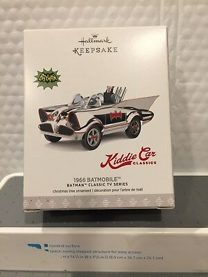 Hallmark  2017 Ornament Limited Edition Kiddie Car Classic 1966 Batmobile Htf