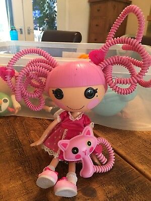 "LALALOOPSY SILLY HAIR JEWEL SPARKLES 12"" DOLL with cat. 2010"