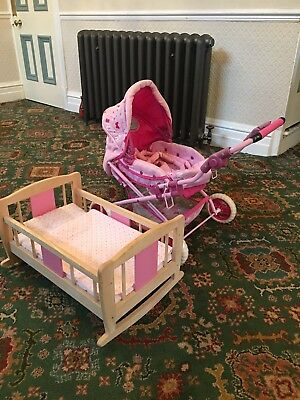 Toy Pushchair & Cot