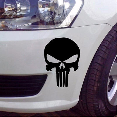 Car Styling 9.5*14Cm Punisher Skull Pattern Film Classic For Motorcycle Decals