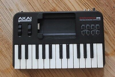 AKAI Professional Synthstation 25 Portable Keyboard Controller for iPhone PC/Mac