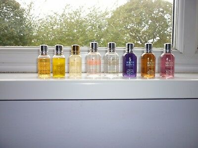 Selection of travel size Molton Brown shower/bath gels