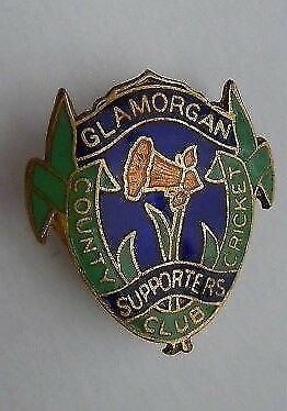 Vintage Glamorgan County Cricket Club Supporters Enamel  Badge