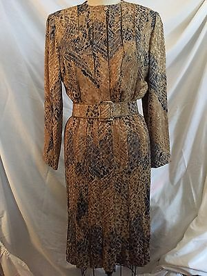 Galanos Silk 2 Piece Ensemble With Belt