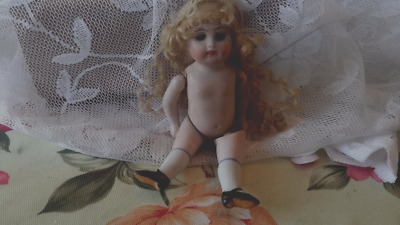 small antique doll MOLD 208 KESTNER ALL BISQUE JOINTED