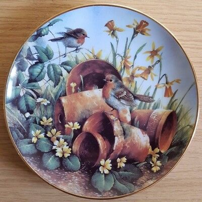 Danbury Mint Plate - Robins in Spring (Four Seasons of Robins)