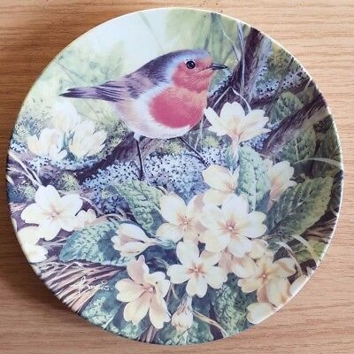 Danbury Mint Plate - The First Day of Spring! (Robins all Year Round series)
