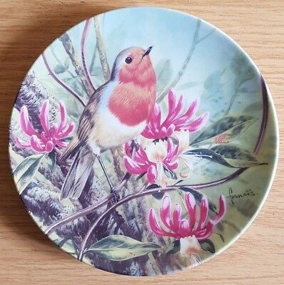Danbury Mint Plate - At Home in the Honeysuckle (Robins All Year Round series)