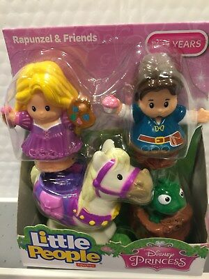 Fisher Price Little People Disney Rapunzel  And Friends 4 Figure Set Htf