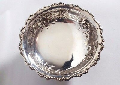 ANTIQUE VICTORIAN STERLING silver footed SWEET BOWL,c1881 Robert Harper LONDON