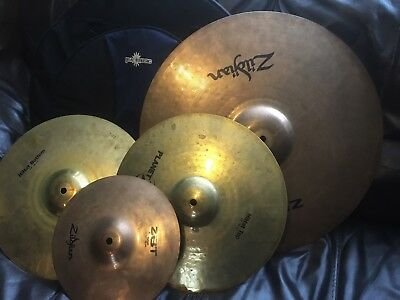 Zildjian Drum Cymbals Used Starter Pack With Bag