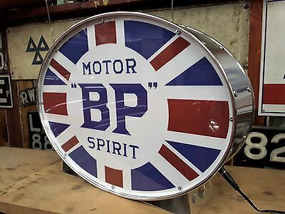 BP,automobilia,petrolania,oil,fuel,tiger,mancave,lightup sign,garage,workshop