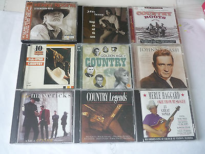 10  IN TOTAL COUNTRY MUSIC CDs JOB LOT