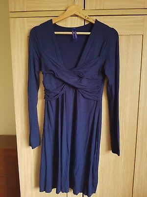 Seraphine blue materniry dress UK 8 great condition