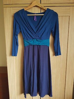 Seraphine blue maternity dress UK 8