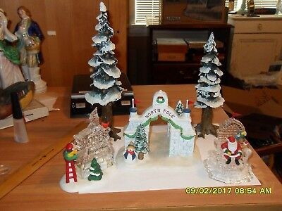 North Pole series trees, North Pole gate and ice sculptures
