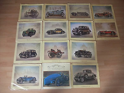 Oldtimer-Kunstdruck: Chrysler 1931, Oldsmobile 1932, Ford 1934, Hispano Suiza