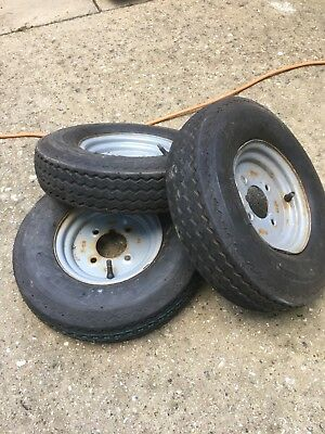 "Three 8"" Trailer Wheels"