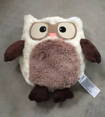 Owl White & Brown Microwaveable Cuddly Toy Warmer with Lavender Scent