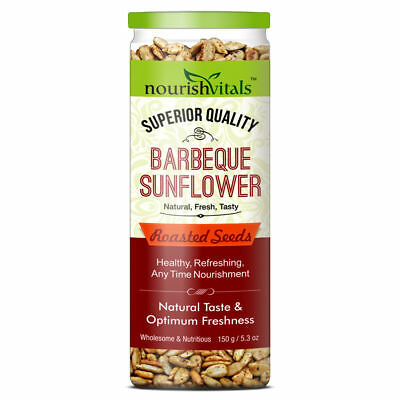 NourishVitals Barbeque Sunflower Roasted Seeds (Superior Quality) - 150 gms !