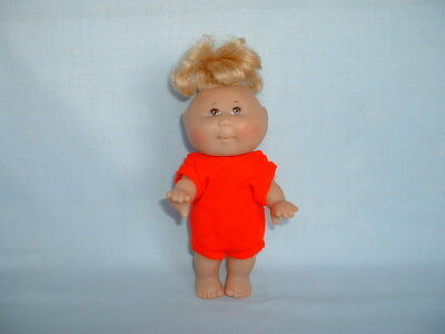 CABBAGE PATCH KIDS BABY BLONDE GIRL Jointed Action Figure Toy Doll (MATTEL)
