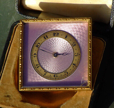Swiss 8 day Strut Clock in Box.