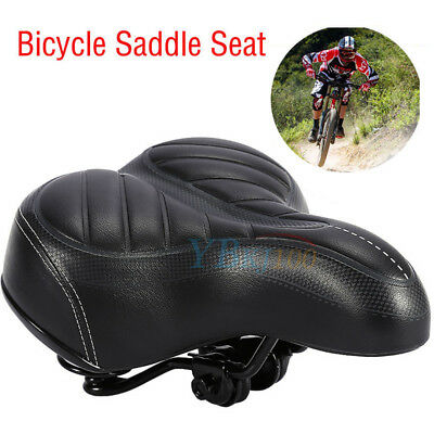 High Quality Leather Extra Wide Comfy Bike Seat Soft Padded Bicycle Gel Saddle