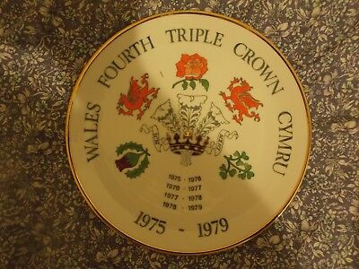 Wales 4th Triple Crown 1975-79 Commemorative Plate