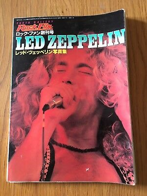 Led Zeppelin Rare Japanese Magazine 1977 Photo  Gallery Rock Fun
