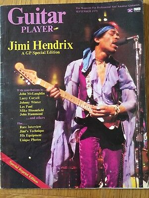 Guitar Player Magazine September 1975 Jimi Hendrix Special Edition