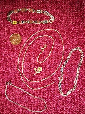 Job Lot Collection of Hallmarked Gold and Silver Vintage Jewellery
