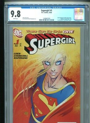 Supergirl #1 (2005) CGC 9.8 WHITE pages MICHAEL TURNER cover (1st print)